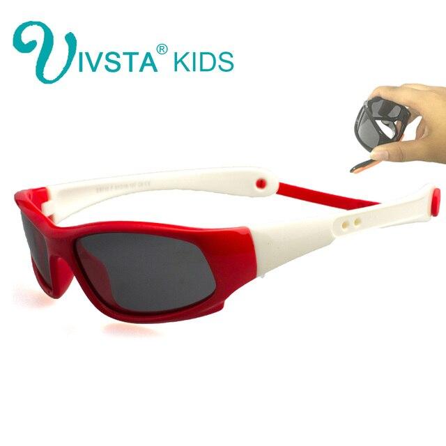 acb0f51b47ce9 IVSTA Crianças Óculos De Sol Meninos Alça de Silicone Óculos Polarizados  Flexíveis TR90 Elastic Crianças Óculos