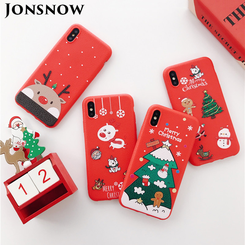 Christmas Phone Case Iphone 7.Christmas Phone Case For Iphone 7 8 Santa Claus Snowman Cases For Iphone Xr Xs Max 6s 7p 8 Plus Painted Silicone Cover