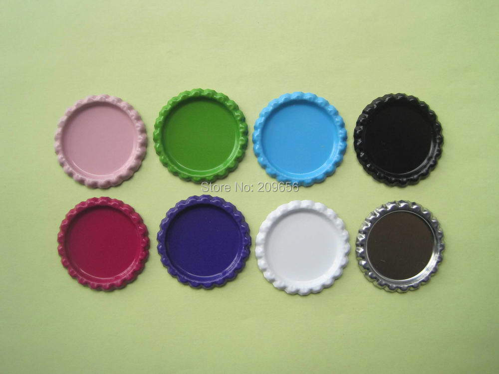 Wholesale 10000 pcs lot two side color flattened beer for Wholesale bottle caps for crafts