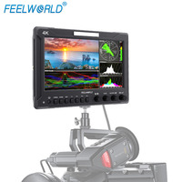 Feelworld Z72 7 Inch IPS FHD SDI 4K HDMI On camera Field Monitor for DSLR with Scopes Waveform Histogram Embedded Audio