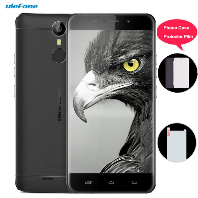 3G Ulefone Metal Lite 1GB/16GB Fingerprint Identification 5.0'' 2.5D Android 6.0 MTK6580A Quad Core up to 1.3GHz OTG Cell Phones