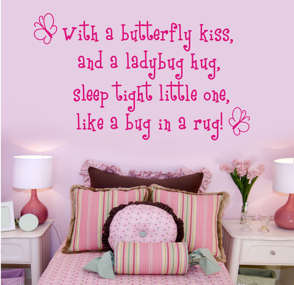 with a butterfly kiss wall stickers for kids rooms girl removable