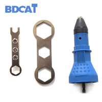 Electric Rivet Nut Gun Riveting Tool Cordless Riveting Drill Adaptor Insert Nut Tool Rivet Drill Riveting