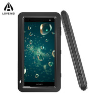 Luxury Shockproof Doom Armor Waterproof Metal Aluminum Phone Cases For Sony Xperia XZ2 Compact Case Cover Screen Glass Film