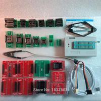 XGECU 100% genuíno TL866II PLUS Programador ICSP FLASH \ EEPROM \ MCU \ NAND + 22 adaptadores + IC teste clipe tl866a replaceTL866A