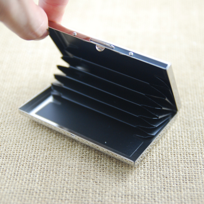 RFID Blocking Stainless Steel Metal Credit Card Holder For Plastic Business Card And Bank Card