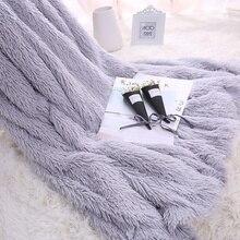 LYN&GY New Sofa/Air/Bedding Long Shaggy Throw Blankets Mantas White Pink Grey Fleece Fluffy Plush Sherpa Plaids Bedspread