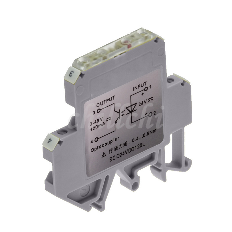 Ultra Slim Rail Mounting 5-48v Output Replacement Optocoupler Module 6mm Dko Series Demy Wei 24vdc Input
