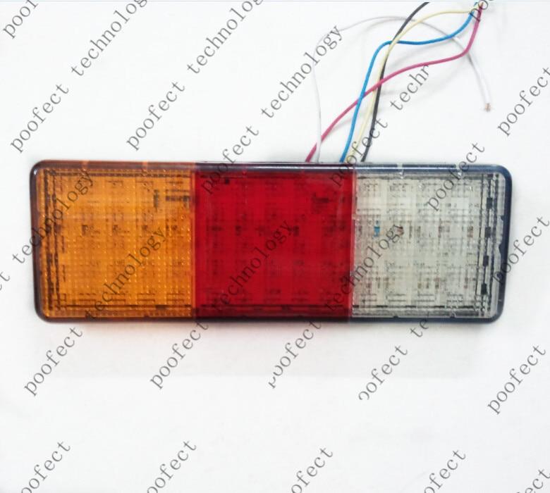 viens pāris E-marķējuma 12 V 24 V gaismas diodes aizmugurējais - Auto lukturi