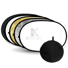 """Godox 60*90cm/24x35"""" 90*120cm/35x47"""" 5 in 1 Studio Collapsible Oval Disc Reflector +Carrying Bag"""