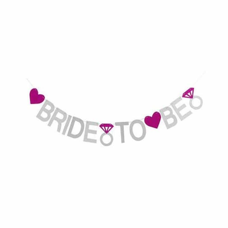 1 шт., розовые, золотые, серебряные флаги для невесты, девичник свадебный душ, вечерние, свадебные