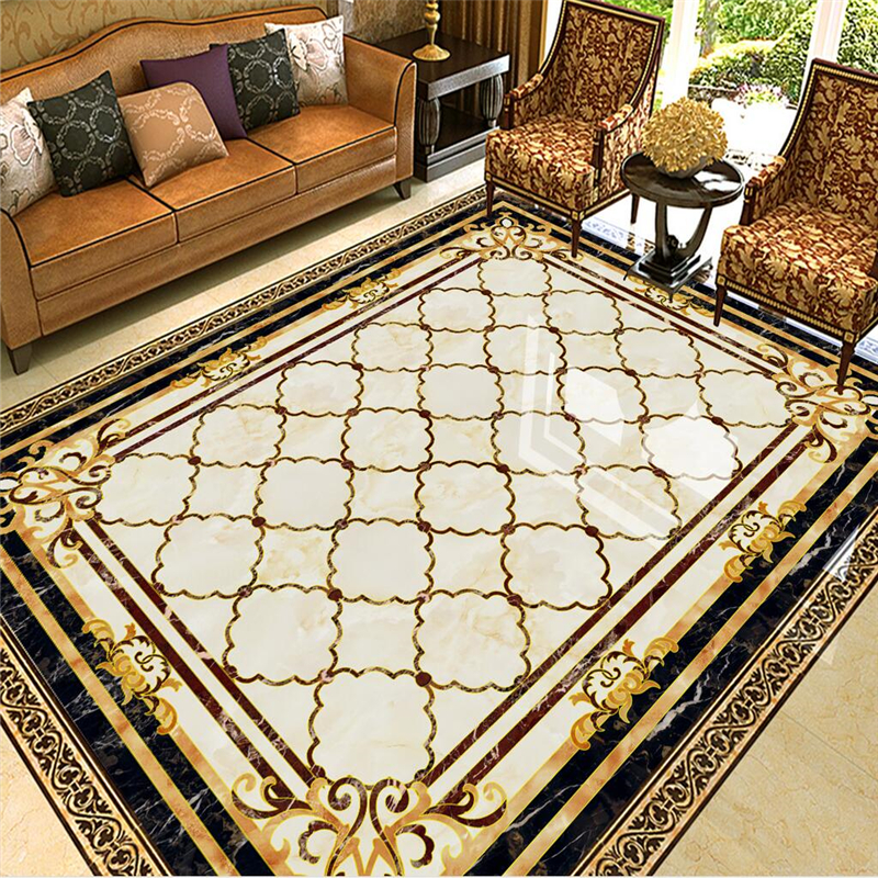 Beibehang Custom 3D Any Size Wallpaper Murals High Temperature Burning European Marble Tiles Parquet Flooring Pattern