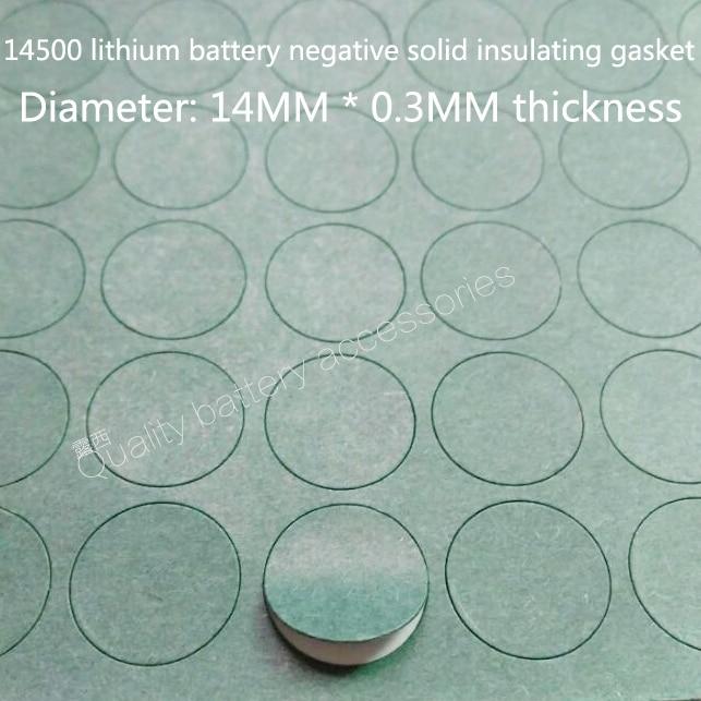 Купить с кэшбэком 100PCS 14500 lithium battery cathode hollow sharp head insulating mat surface cushion meson 5 battery positive pole face pad