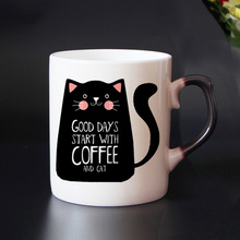 Good Days Start With Coffee and Cat – Cool Coffee Mug with Cat Art – Heat Sensitive
