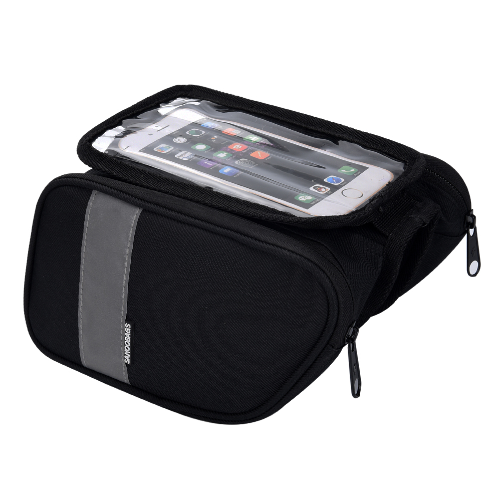 Bicycle Cycling Bike Front Top Frame Pannier Tube Bag Case Pouch For Smart Phone