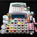Nic-111 Free Shipping New Pro 36W UV GEL White Lamp & 36 Color UV Gel Nail Art Tools Sets Kits