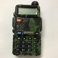 Walkie talkie UV 5R con banda dual VHF UHF, portátil, accesorios de radio bidireccional, color negro, rojo y azul