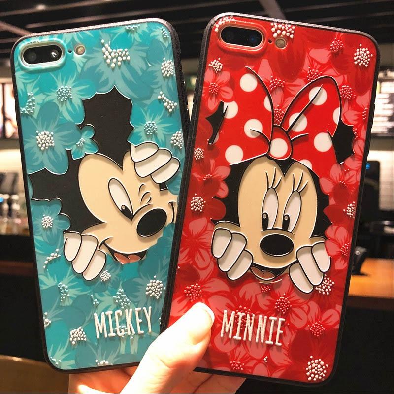 iPhone X 8 6 7 Plus Cute Mickey Minnie