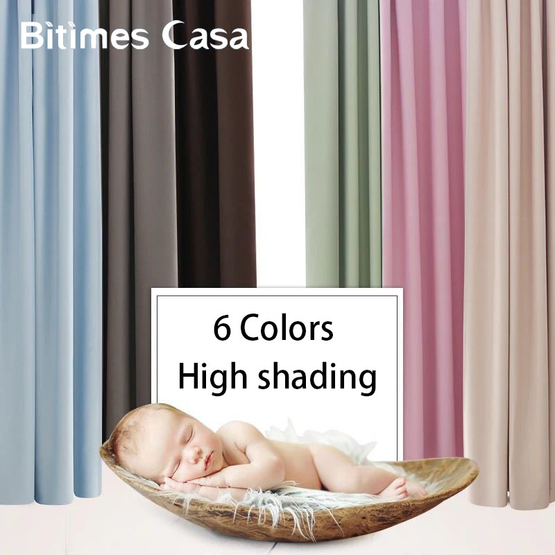 Full Shadiing Blackout Window Curtain Candy Color For Living Roon Bedroom Curtain Eco friendly Material Elegant Home Decoration