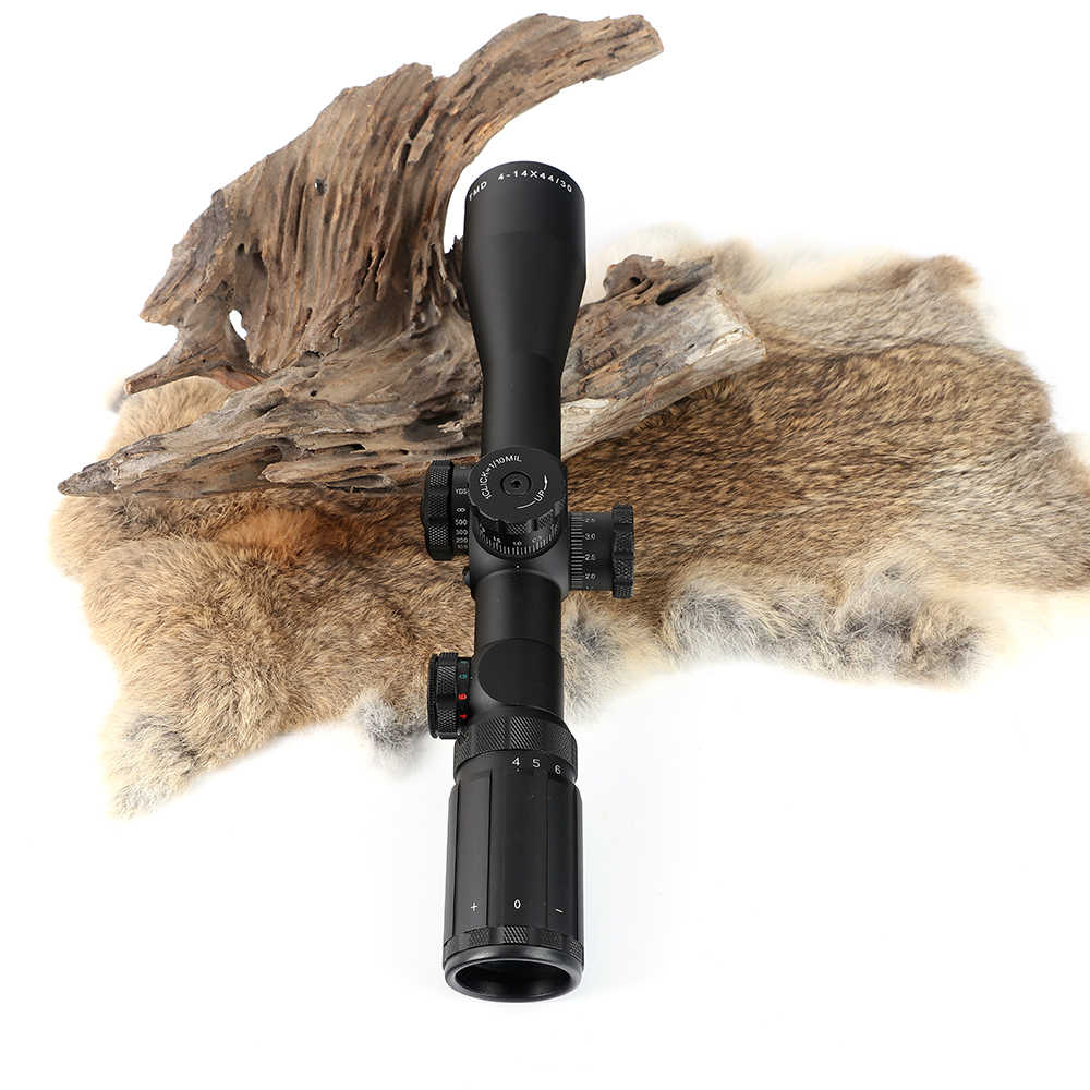 Caccia Tactical Shooting Mirino BSA TMD 4-14X44 IR Primo Piano Focale Vista Ottica Rosso Verde Illuminato Blocco Rifle Scopes