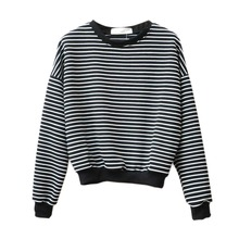 Hoody pullover sweatshirts striped harajuku hoodie hoodies tops sleeve casual cotton