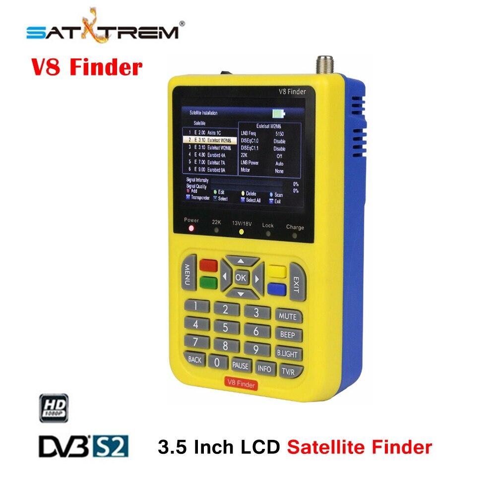 SATXTREM V8 Finder HD DVB-S/S2 Satellite Finder High Definition MPEG-4 DVB S2 Satellite Meter Full 1080P FTA Satfinder