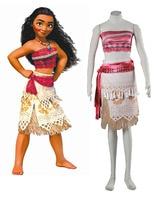 Free Shipping Moana Moana Waialiki Princess Dress Film Cosplay Costume