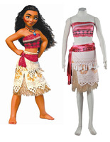 Free Shipping Moana Moana Waialiki Princess Dress Film Cosplay Costume