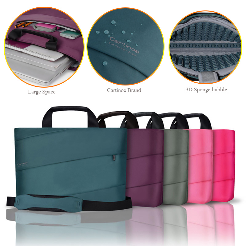 цена на Notebook Bag Laptop Messenger 11 12 13 14 15 For Macbook Air 13 Case Lenovo Samsung Dell Asus Waterproof Travel Briefcase