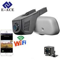 E ACE Car Dvr WIFI DVRs Dual Camera Lens Registrator Dashcam Digital Video Recorder Camcorder Full HD 1080P 30FPS Night Version