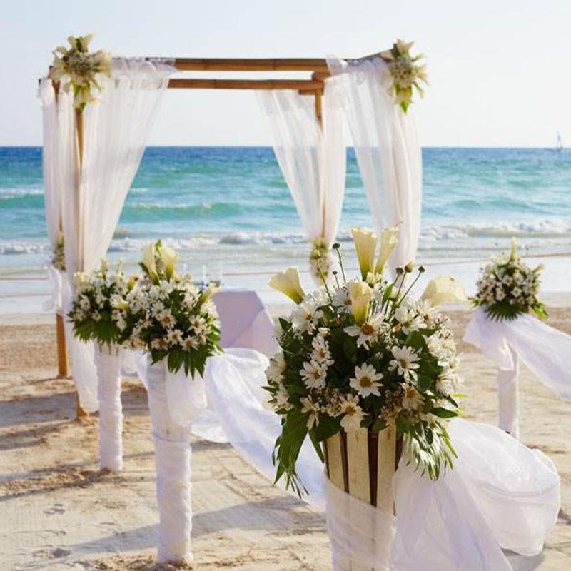 Chair Bows Sashes Table Swag Fabric Tulle Bolt Lawn Beach Church