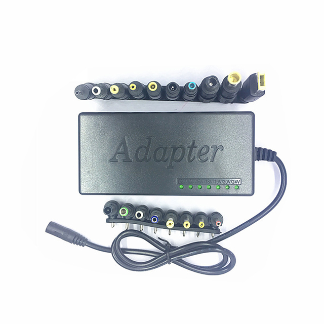 96W Multi function Laptop Power Adapter 12 24V Universal Adjustable Voltage  Notebook Charger Replacement