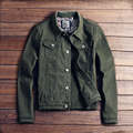 DEE MOONLY 2017 New slim mens jackets and coats casual denim jacket men veste homme men jeans jacket khaki black army green red