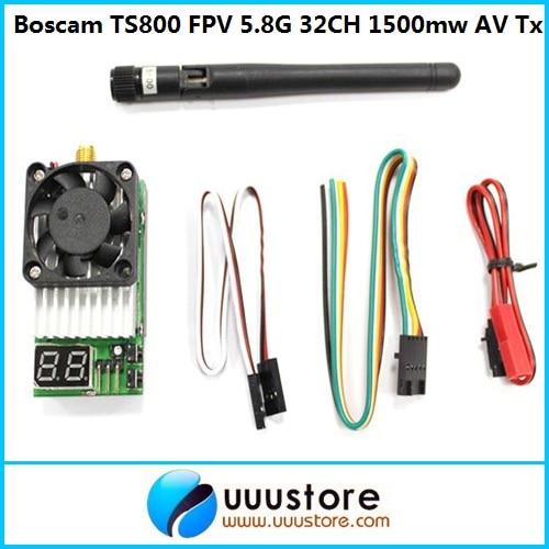 Boscam TS800 FPV 5.8G 5.8Ghz 32CH 1500mw Wireless AV Mini Transmitter Tx