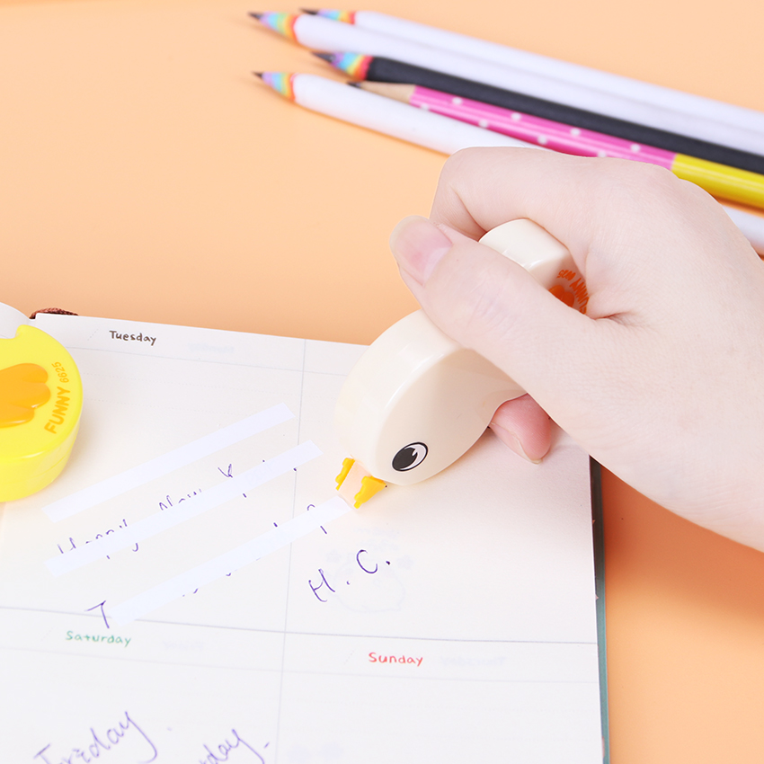 1PC 6m Lovely Mini Funny Ducklings Correction Tape Roller Stationery Gifts School Office Supplies