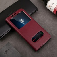Genuine Leather Case For Huawei Mate 10 Lite Case Flip Cover Full Protection Smart View Window Cases For Huawei Nova 2i Honor 9i