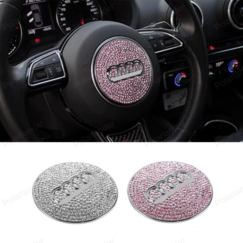 car styling steeing wheel Trim Cover For A udi A3 A5 A1 A6L Q3 Q5 decoration