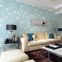 Striped Flowers Plain Living Room Bedroom Wallpaper For Walls 3 D Garden Retro Floral Wallpaper Papel