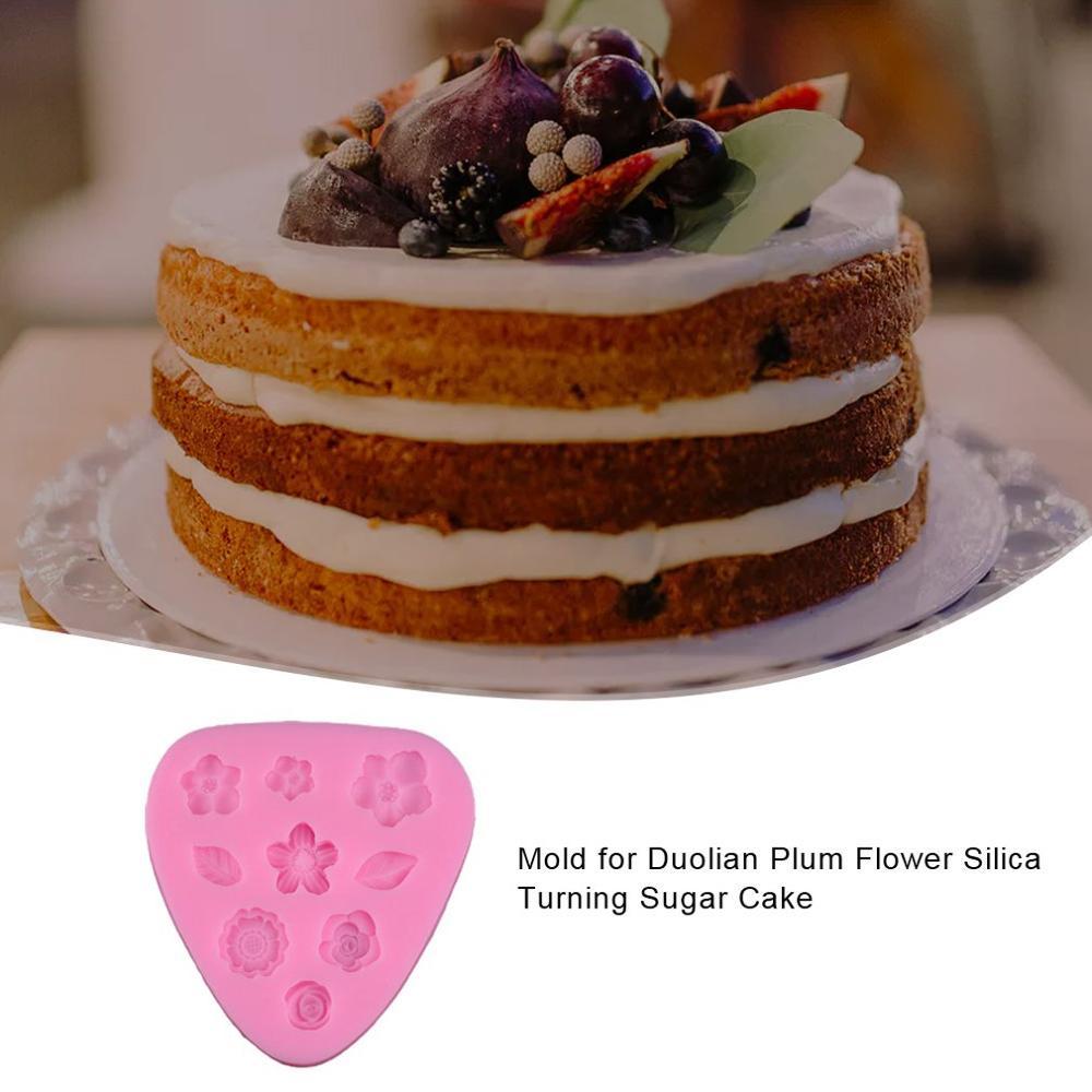 Plum blossom fondant cake mold silicone mold cake decoration baking tools DIY cake mold(China)
