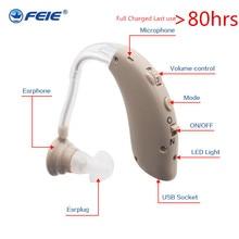 USB Hearing Aid con il Caricatore S 25 Dellorecchio Medici Apparecchi di Controllo del Volume Registrabile di Tono Sordo Attrezzature di Trasporto Libero