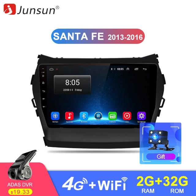 Junsun Штатное Головное устройство для санта фе 2013 2014 GPS навигатор Android 8.1 aвтомагнитола магнитола 2 din автомагнитолы 2DIN Андроид для Hyundai Santa Fe 3 Grand штатная магнитола автомобильная мультимедиа
