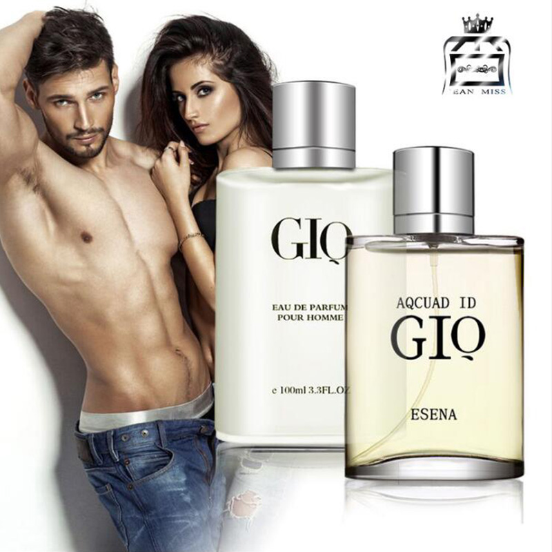 4 Types 100ml Original GIQ Gentleman Perfume Fresh Temptation Glass Bottle Male Parfum Lasting Fragrance Spray