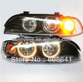 For BMW E39 LED Angel Eyes Head Lamp 1995-2003 year LF