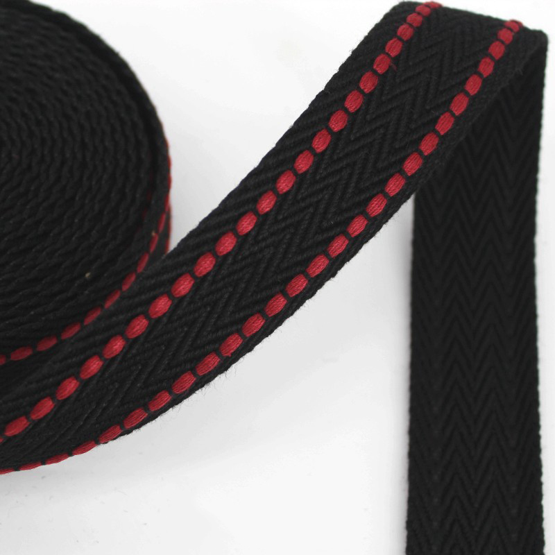 5Meters 38mm Polyester Cotton Webbings High Tenacity Backpack Strap Webbing Ribbon Sewing Tape Bias Binding Clothes Accessories in Webbing from Home Garden