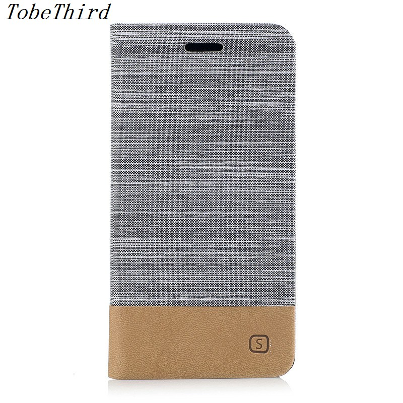 TobeThird For Xiaomi Redmi 4X Case Assorted Color Canvas Grain PU Leather Card Holder Cell Phone