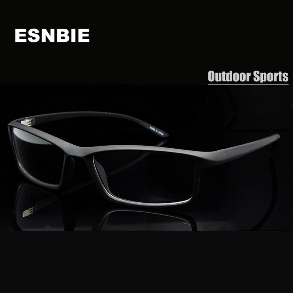 ESNBIE New TR90 Óculos de Armação de Óculos de Lente Clara Flexível de Plástico Homens 6 Base de Armações de Óculos de Prescrição cadre de lunettes pour homme