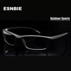 ESNBIE Nouveau TR90 En Plastique Flexible Objectif Clair lunettes cadre Hommes 6 Base lunettes de Prescription Cadres cadre de lunettes pour homme