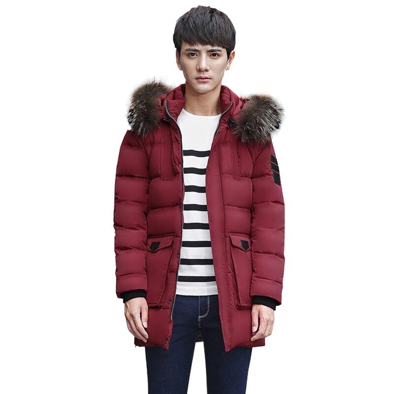 New 90%white duck down men windbreaker coats hooded men down jacket mens winter thick warm down jacket overcoat jacket parka