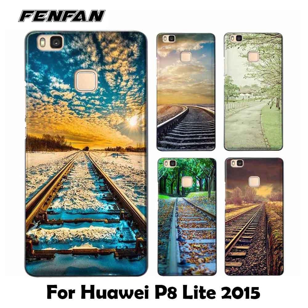 For coque Huawei P8 lite 2015 case Railway scene Soft TPU cover for fundas Huawei P8 lite 2015 case for Huawei P8 lite 2015