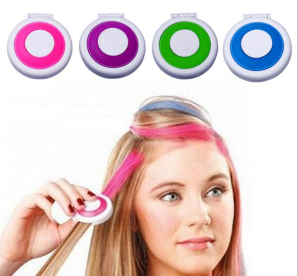 Fashion Spray Colored Temporary Hair Chalk Powder Dye For Color Painting Pastel Make Up Tool Salon As Seen On Tv